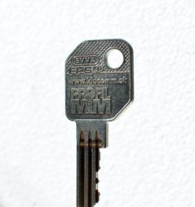 náš profil EVVA FPS - kľúč s našim logom