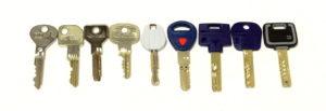 Typy kľúčov - klik pre zväčšenie